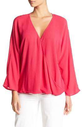 HIATUS 3/4 Sleeve Wrap Blouse