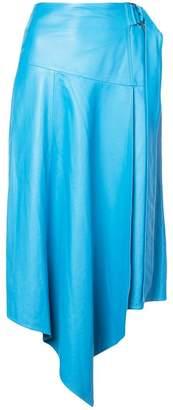Tibi asymmetric draped midi skirt