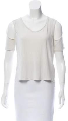3.1 Phillip Lim Cold-Shoulder Short Sleeve T-Shirt