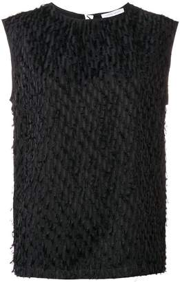 Christian Wijnants fringe textured top