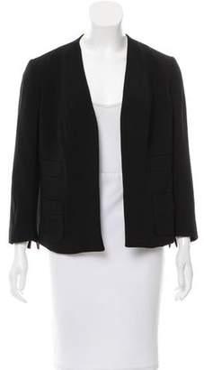 Narciso Rodriguez Woven Collarless Jacket w/ Tags