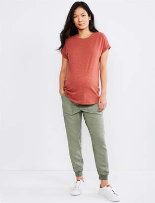 Splendid Under Belly Linen Maternity Jogger Pant