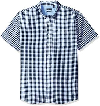 Izod Men's Big and Tall Saltwater Breeze Short Sleeve Shirt Estate Blue