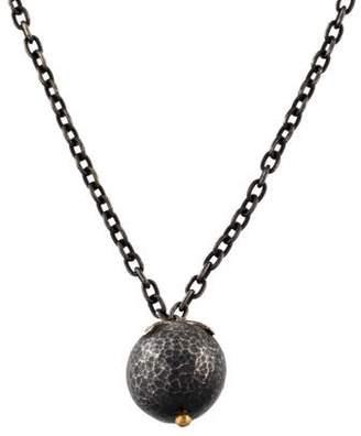 Gurhan Hammered Ball Pendant Necklace