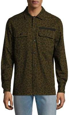 Ovadia & Sons Leopard Casual Button Down Shirt