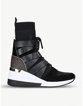 MICHAEL Michael Kors Beckett Bootie leather sock-fit trainers