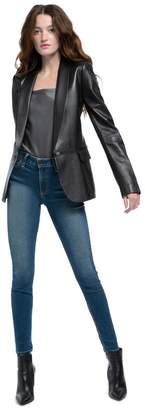Alice + Olivia Macey Leather Blazer