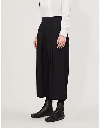 Y's Ys Pleated wide-leg woven trousers