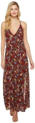 Brigitte Bailey Amina Spaghetti Strap Floral Maxi Dress Women's Dress