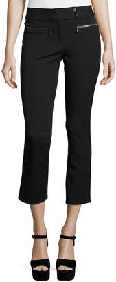 Veronica Beard Metro Cropped Kick Flare Pants, Black