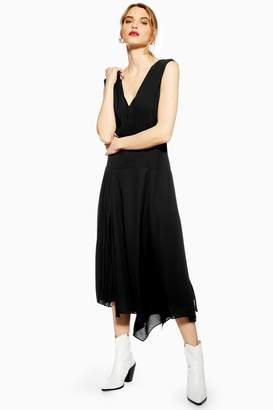 Topshop Pleated Pinafore Dress