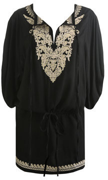 Arden B Embroidered Drop Waist Tunic