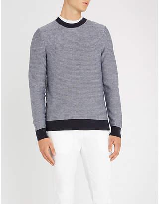 BOSS Contrast-trim towelling jumper