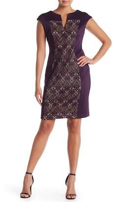 Connected Apparel Split V-Neck Dress