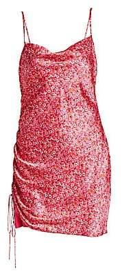 Cinq à Sept Women's Astrid Disty Print Side-Shirred Dress