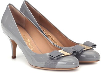 Salvatore Ferragamo Carla 70 patent leather pumps