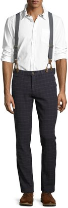 Jachs NY Suspender Grid-Print Pants, Navy $93 thestylecure.com