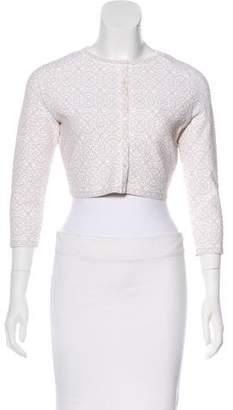Alaia Metallic Patterned Bolero Jacket