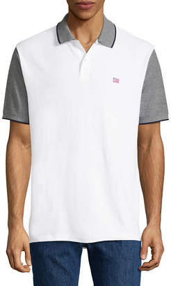 ST. JOHN'S BAY Short Sleeve Pique Polo Shirt Slim