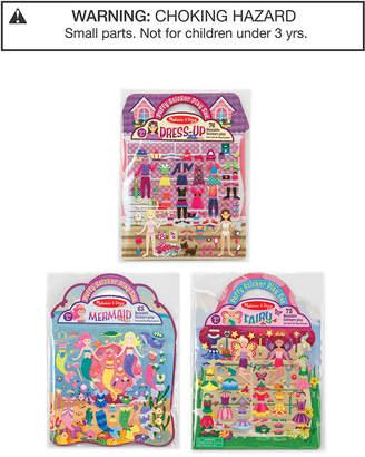 Melissa & Doug 3-Pk. Fairy, Dress-Up & Mermaid Puffy Sticker Play Sets Bundle