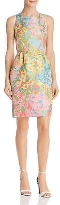 Moschino Floral Jacquard Sheath Dress
