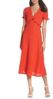 NSR Maci Ruffle Midi Dress