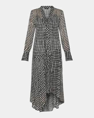 Theory Oval Print Scarf Wrap Dress