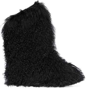 Saint Laurent 20mm Furry Mongolian Fur Snow Boots