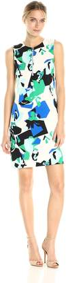 Calvin Klein Women's Printed Sheath Dress with Zipper