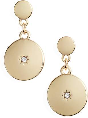 Treasure & Bond Inlaid Stone Disc Drop Earrings