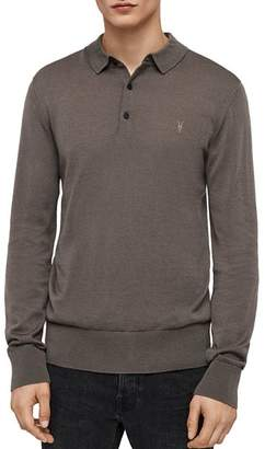 AllSaints Mode Merino Wool Slim Fit Polo Shirt