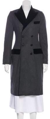 Dolce & Gabbana Virgin Wool Knee-Length Coat