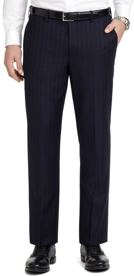 Brooks Brothers Milano Fit Alternating Track Stripe 1818 Suit