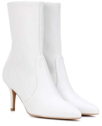 Stuart Weitzman Cling Mimi leather ankle boots