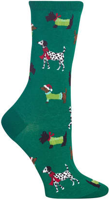 Hot Sox Women Cozy Dogs Crew Socks