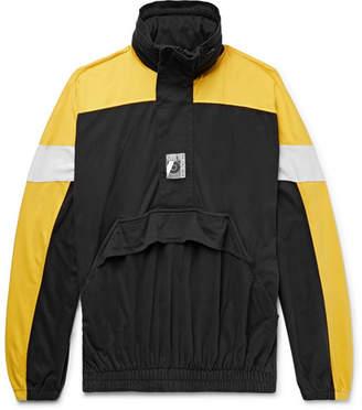 Balenciaga Oversized Colour-Block Cotton-Jersey Half-Zip Hoodie