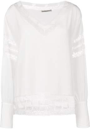 Ermanno Scervino lace detail blouse