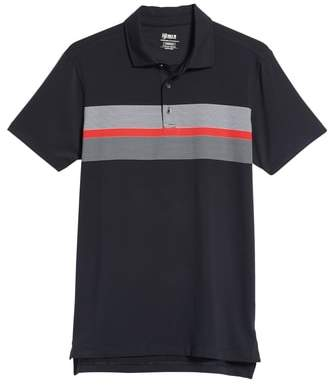 Bobby Jones R18 Tech Daytona Stripe Golf Polo
