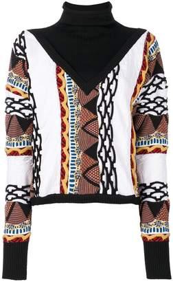 Aalto roll neck patterned jumper