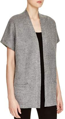 Majestic Filatures Short Sleeve Donegal Cardigan $380 thestylecure.com