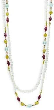 Miriam Haskell Semi-Precious Multi-Strands Necklace