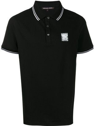 Michael Kors striped trim polo shirt