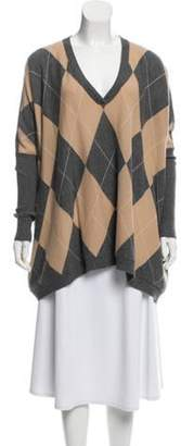 Autumn Cashmere Argyle Cashmere Sweater Grey Argyle Cashmere Sweater