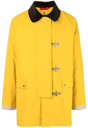 Fay pin fastening coat