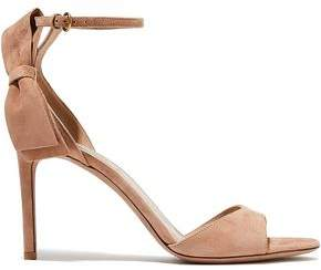 Valentino Bow-embellished Suede Sandals