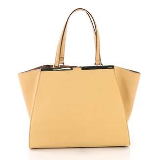 Fendi 3Jours Yellow Leather Handbag