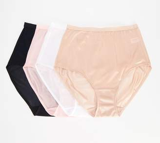 Breezies Set of 4 100% Nylon Full-Brief Panties
