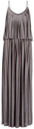 J. Lindeberg Leona Grey Pleated Maxi Dress