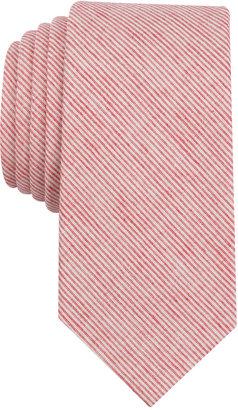 Bar Iii Men's Darlington Stripe Skinny Tie, Created for Macy's $55 thestylecure.com