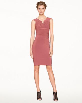 Le Château Knit V-Neck Shift Dress